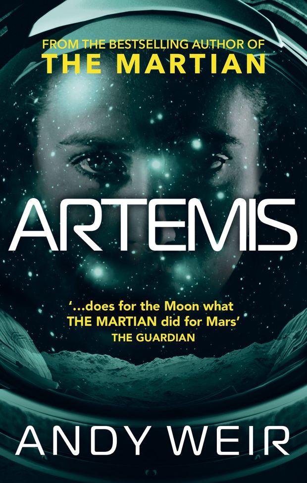"""Capa da edição americana de """"Artemis"""", livro de Andy Weir (foto: divulgação)"""